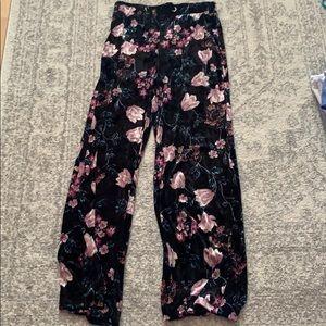 Floral Velvet Pants